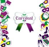 Icônes de carnaval Images stock