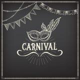 Icônes de carnaval, conception de croquis Photos libres de droits