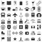 Icônes de carte de ville réglées Photographie stock libre de droits