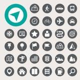 Icônes de carte et d'emplacement réglées Photo stock