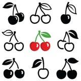 Icônes de cerise illustration de vecteur