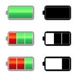 Icônes de charge de batterie Photos stock