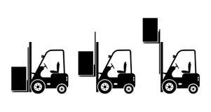 Icônes de chariot élévateur  Photo libre de droits