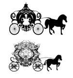 Icônes de chariot de vintage Photos stock