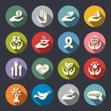 Icônes de charité illustration stock