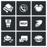 Icônes de charité Illustration de vecteur Image libre de droits