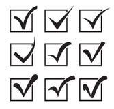 Icônes de Checkbox Images libres de droits