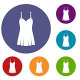 Icônes de chemise de nuit réglées Photographie stock libre de droits