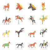 Icônes de cheval de vecteur réglées Photo libre de droits