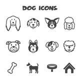 Icônes de chien Photographie stock libre de droits