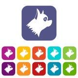 Icônes de chien de Pinscher réglées Photo stock
