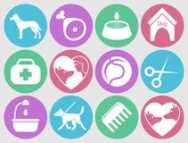 Icônes de chien réglées pour le Web Quels chiens ont besoin illustration de vecteur