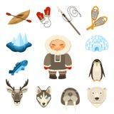Icônes de Chukchi réglées Images libres de droits