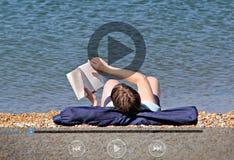 Icônes de clip vidéo de nature de vacances photographie stock libre de droits