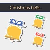 Icônes de cloche de Noël Image libre de droits