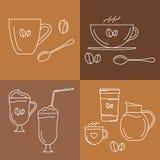 Icônes de Coffe réglées Photo stock