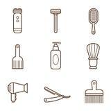 Icônes de coiffeur illustration stock