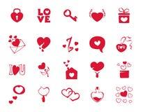 Icônes de collection pour le jour de valentines illustration libre de droits