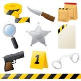 Icônes de combat de crime illustration stock