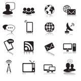 Icônes de communication illustration de vecteur