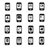 Icônes de communication et de media Photographie stock