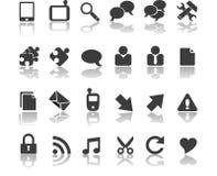Icônes de communications Image libre de droits