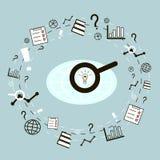 Icônes de concept d'affaires réglées Illustration de vecteur Images stock
