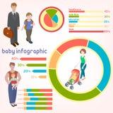Icônes de concept de personnes d'enfants d'enfants réglées Images libres de droits