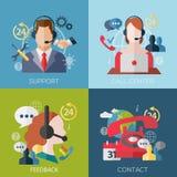 Icônes de concept pour des services de Web et de téléphone portable Image libre de droits