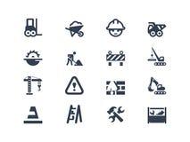 Icônes de construction Photographie stock