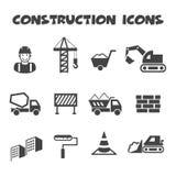 Icônes de construction Image stock