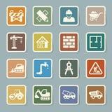 Icônes de construction réglées Photographie stock libre de droits