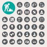 Icônes de construction réglées Images libres de droits