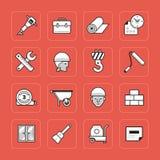 Icônes de construction réglées Images stock