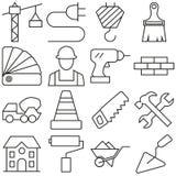 Icônes de construction réglées illustration eps10 Photographie stock