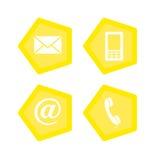 Icônes de contact de Web illustration stock