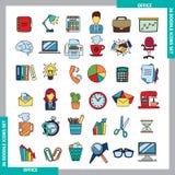 Icônes de couleur de griffonnage Images libres de droits