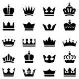 Icônes de couronne Image stock