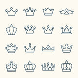 Icônes de couronne Photo stock