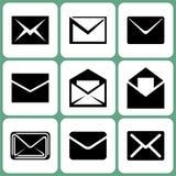 Icônes de courrier Photographie stock