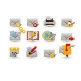 Icônes de courrier Image libre de droits