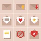 Icônes de courrier Photos libres de droits