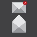 Icônes de courrier Photographie stock libre de droits