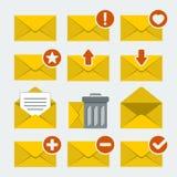 Icônes de courrier de vecteur réglées Images libres de droits