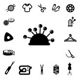Icônes de couture de silhouette Photo libre de droits