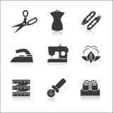 Icônes de couture réglées Image libre de droits