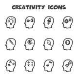 Icônes de créativité illustration stock