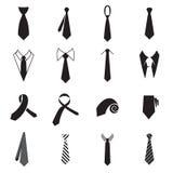 Icônes de cravate Collection d'icônes du lien des hommes d'isolement sur un fond blanc Illustration de Vecteur