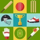 Icônes de cricket Photos stock