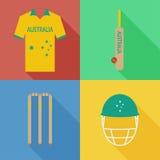 Icônes de cricket d'Australie Photos stock